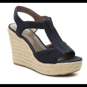 Mods Spana Betsy Navy Wedge Sandal